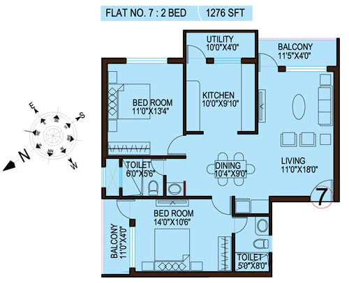 100 2 bhk floor plan for way2nirman 100 sq yds 2 bhk flat drawing