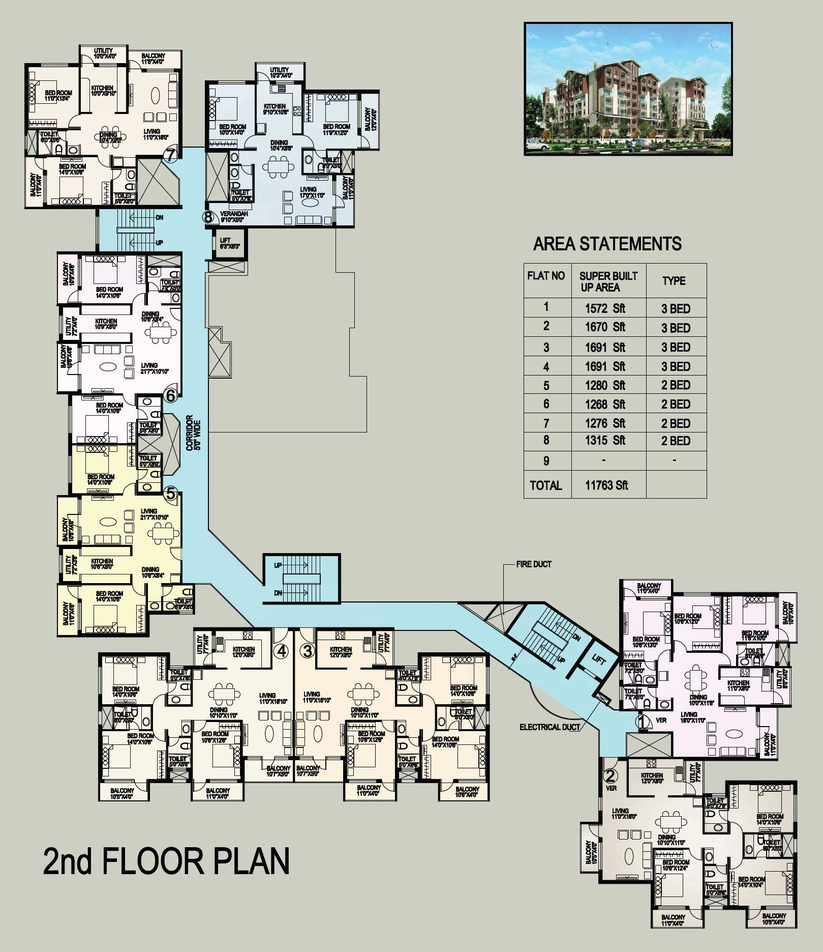 2 Bedroom Flat Floor Plan